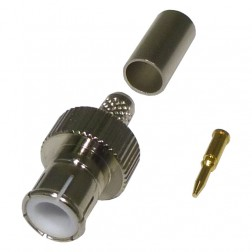 0-RFB1106-9 BNC Male Crimp Connector, Quick Disconnect, Cable Group C, RFI