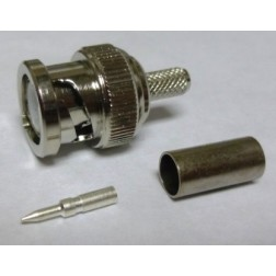 0-RFB1106 BNC Male Crimp Connector, Cable Group C