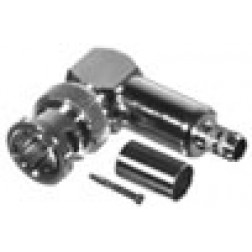 RFB1710-Q BNC Male Crimp Connector, Right Angle, 75 Ohm, Cable Group Q, RFI
