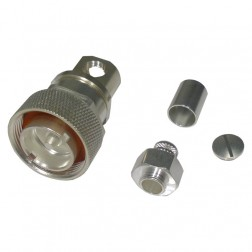RFD1605-2E  7/16 DIN Male Crimp Connector, Cable Group E, F, I, PL, RFI