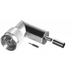 RFN1009-C2  Type-N Male Crimp Connector, Right Angle, Cable Group C2, RFI