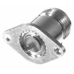 0-RFN1020-1 Type-N Female 2 Hole Chassis Mount Panel Connector, RFI