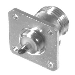 0-RFN1021 Type-N Female 4 Hole Panel Mount, Solder Cup, RFI