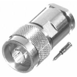 0-RFN1002-1S Type-N Male Clamp Connector, Cable Group E, RFI