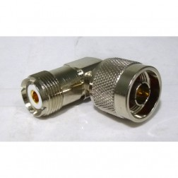 RFP7330-RA  Between Series Adapter, Right Angle, Type-N Male to UHF Female