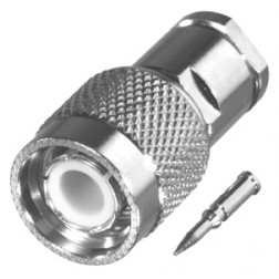 RFT1201-1X TNC Male Clamp Connector, Cable Group X, RFI