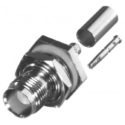 RFT1212 TNC Female Crimp Bulkhead Connector, Cable Group C, RFI