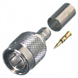 RFT1803-1 TNC Male Crimp Connector, 75 Ohm, Cable Group: D, RFI