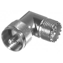 RFU532-1 IN Series Adapter, UHF Male to Female, Right Angle