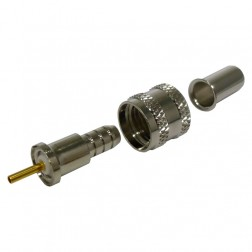 RFU600-1 Mini-UHF Male Crimp Connector, Cable Group: C, RF Industries