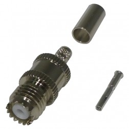 RFU601-1  Mini UHF Female Crimp Connector, Cable Group C, RF Industries