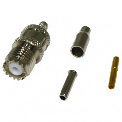 RFU601-3  Mini UHF Female Crimp Connector, Cable Group B, RF Industries