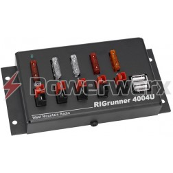 RIGRUNNER4004USB  Power Distribution Panel, 4 outlets + 2 USB, 40 amp