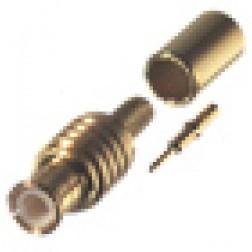 RMX8000-1B  MCX Plug Male Crimp Connector, Cable Group B.  RF Industries