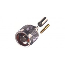 RP1005-C Type N Male Crimp Connector, Reverse Polarity, Cable Group C RFI