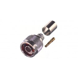 RP1006-3I  Reverse Polarity Type-N Male Crimp Connector, Cable Group I, RFI