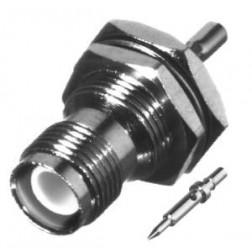 RP1212-B; Connector, TNC Reverse Polarity, Female Bulkhead Crimp, Cable Group B. RG316, RG174, RF Industries