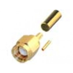 RP3000-1X  SMA Reverse Polarity Male Crimp Connector, Cable Group X, RFI