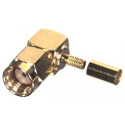 RP3010-1B Connector, Right Angle SMA Reverse Polarity Male Crimp, Cable Group B. RG316, RG174.  RF Industries