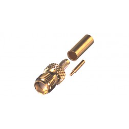 RP3050-1B Connector, SMA Reverse Polarity Female Crimp, Cable Group B. RG316, RG174, RF Industries