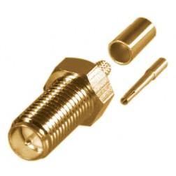 RP3050-1C1 Connector, SMA Reverse Polarity Female Crimp, Cable Group C1. RG142, RG223, RG400, RF Industries