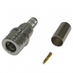 RQA5000-C1 QMA Male Crimp Connector, (Snap Lock), Cable Group: C1, RFI