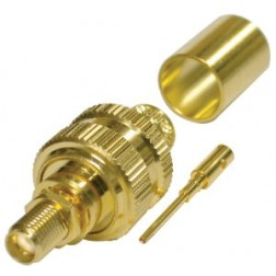 RSA3252-1I SMA Female Crimp Bulkhead Connector, Cable Group I, RFI