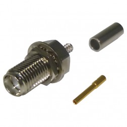 RSA3252-B, Connector, sma(f) Crimp, Bulkhead for rg174, rg316, Cable Group: B, RF Industries