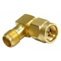 RSA3402-1 IN Series Adapter, SMA Male to SMA Female, Right Angle, Gold, RFI