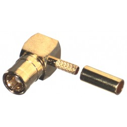 RSB4010-1B  Right Angle SMB Male Crimp Connector, Cable Group B, RFI