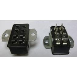 S308AB  -  8 Pin Cinch Connector Socket  w/Angle Brackets (Jones)