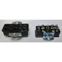 S310AB  -  10 Pin Cinch Connector Socket  w/Angle Brackets (Jones)