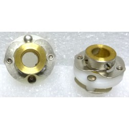 "SC12  Shaft Coupler, Teflon Center,  Semi-Flexible, 1/4"" shaft"