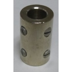 "SC5  Shaft Coupler, Nickel Plated, 1/4"" shaft"