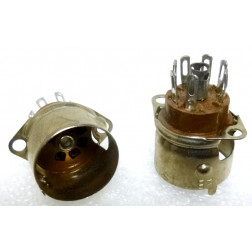 SK7-MINI-SH-E Socket, 7 pin minature, W/ shield, Elco/EBY
