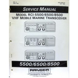 SMRCI55  Service Manual for Ranger RCI5500 / 6500 / 8500 VHF Mobile Marine Radios