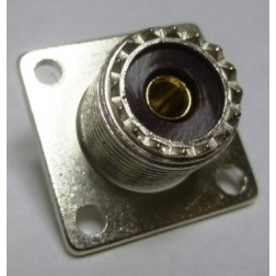 83-1R-B UHF Female 4 Hole Flange Chassis Mount Connector, Solder Cup (SO239), Amphenol