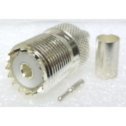 1-SO239-8X UHF Female Crimp Connector, Cable Group X, X-75, D