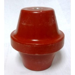 "1872-1B Standoff Insulator, 2.75"" L x 2.5"" Dia., Red, Glastic"