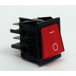 T100-2WI-XII  Rocker Switch, DPST(5 pins) RED on/off, Dreefs