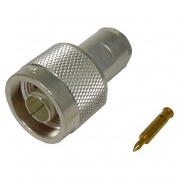 TC240NMC Connector, type-n male clamp, Lmr 240 knurled nut, Cable Group: X, TIMES