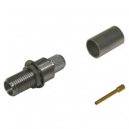 TC240SFBH Connector, sma(f) crimp, Cable Group: X, Times