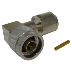 TC400NMC-RA-A   Type-N Male Clamp Connector, Right Angle, knurled nut,  Cable Group: I , Times