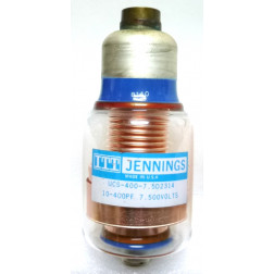 UCS400-7.5  Vacuum Variable Capacitor, 10-400pf 7.5kv (Clean Used - Removed from Equipment)