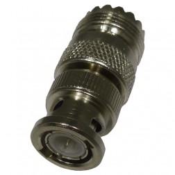UG255/U  Between Series Adapter, UHF Female (SO239) to BNC Male, Straight, Amphenol