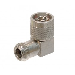 UG27D/U  IN Series Adapter, Right Angle Type N Male to Female, Square Body, (Clean Used)