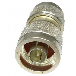 UG57B/U  In-Series Adapter, Type-N Male to Male Barrel , Silver Plated, Amphenol