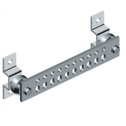 "UGBKIT-0214-T Ground Buss Bar, 1/4"" x 2"" x 14"" incl. hardware"