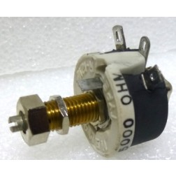 VR12.5-5K  Resistor, Variable, Rheostat, 5000 ohm 12.5 Watt, (REL5K0), Locking, Ohmite