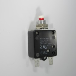 W58-XB1A4A-15 - Potter and Brumfield Thermal Circuit Breaker, W58 Series, 15 A, 1 Pole, 50 VDC, 250 VAC, Panel